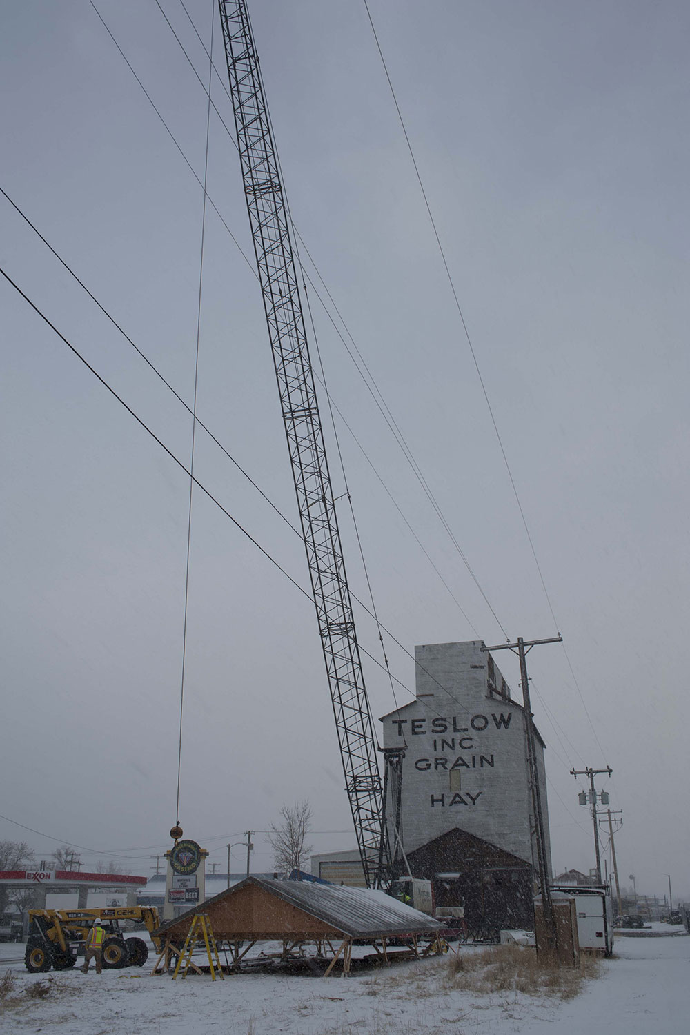 Teslow Grain Elevator in Livingston, MT